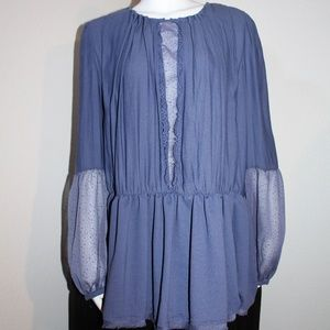 Free People Purple Tunic Peasant